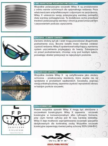 f79cce54a10 Okulary polaryzacyjne Wiley-X VALOR Polarized Crimson Mirror Lens ...