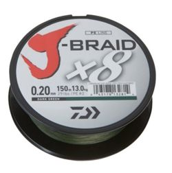 Plecionka Daiwa J-Braid X8 0,13/150m Green 12751-013