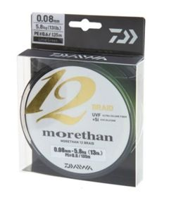 Plecionka Daiwa Morethan12 Braid 0,14mm 135m 12700-014