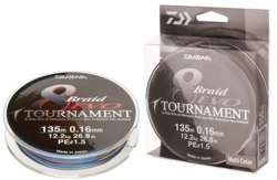 Plecionka Daiwa Turnament 8 Braid EVO Multicolor 0,35mm / 300m / 35,1kg 12781-235